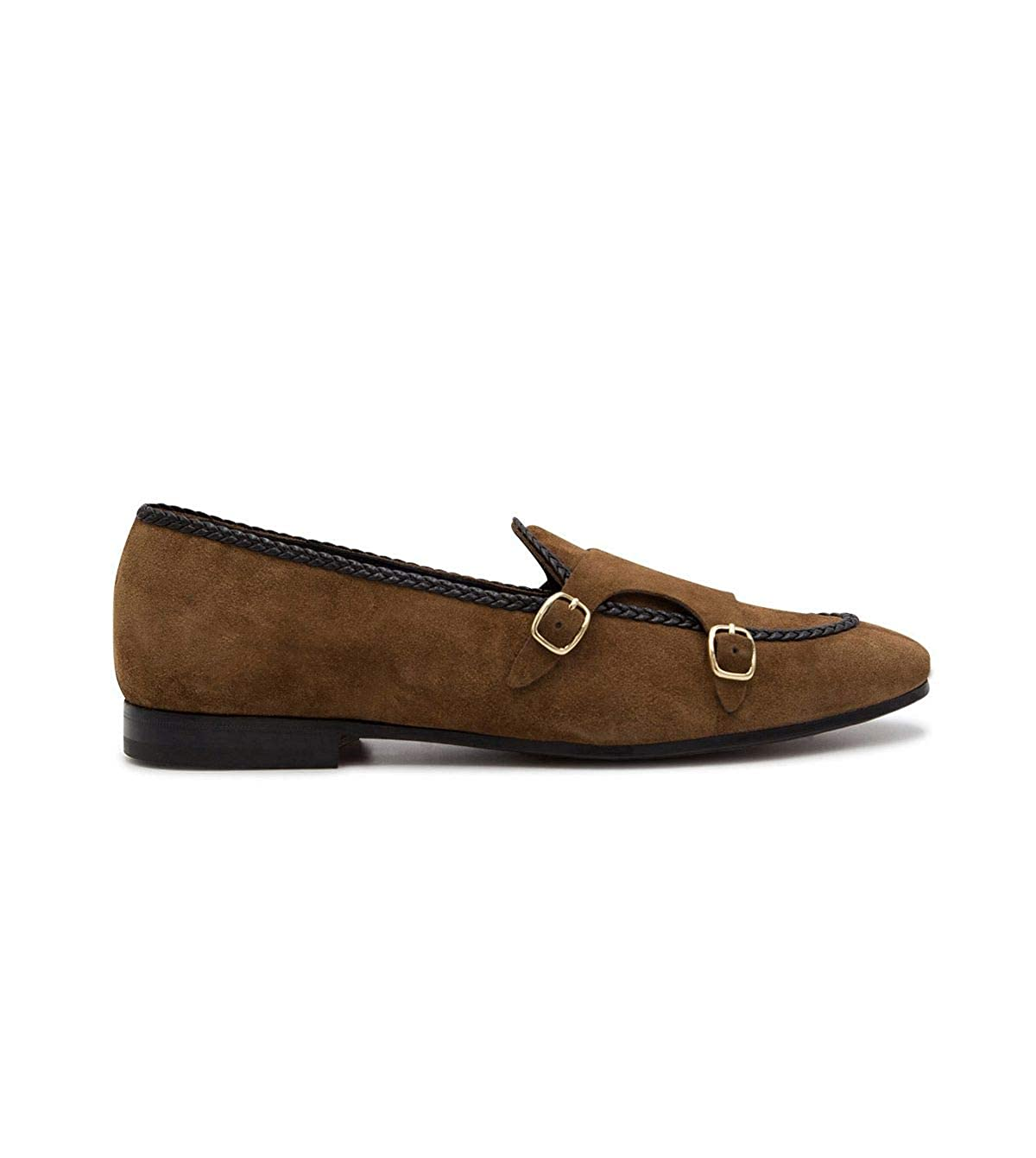 - LEQARANT Men's 17823BROWN Brown Suede Loafers