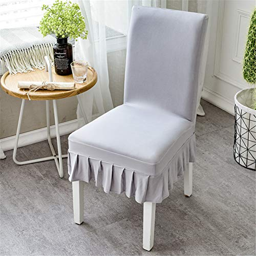 4 Pack Stretch Short Dining Room Chair Covers Ruffled Skirt Slipcovers Multi-color Chair Seat - Dining Chair Ruffled Slipcover