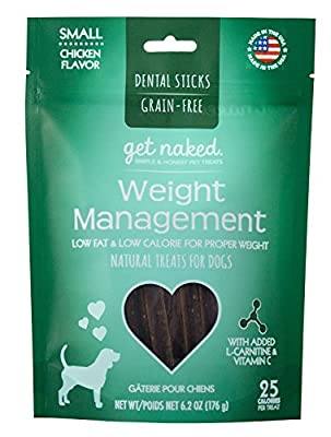 Get Naked Grain Free 1 Pouch 6.2 oz Weight Management Dental Chew Sticks, Small by Get Naked