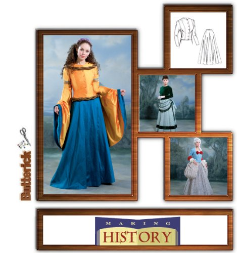 17th Century Costume Patterns (Butterick 4154 Renaissance, 17th & 18th Century Dress Patterns 6-10)