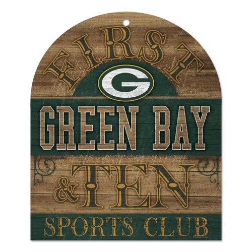 NFL Green Bay Packers Wood Club Sign, 10 x 11