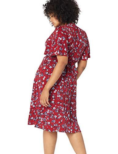 Morgan Donna Une Pellicule Fausse Taille De Plus Les Femmes En Forme Et Flare Robe Mérite Rouge / Bleu Ciel / Multi