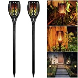 Cheap Solar Christmas Decoration Lights Outdoor Waterproof, Solar Torch Lights 96 LED Dancing Flame Lighting Flickering Tiki Torch for Garden Path Landscape Walkway Dusk to Dawn Automa On/Off, 2 Pack