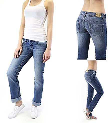 Donna Amara 788 Jeans For Women Skinny Low Rise Blue Denim Designer Italian Pants Size US 26 IT (Low Rise Straight Jeans)