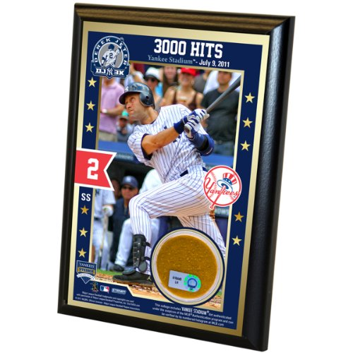 MLB New York Yankees Derek Jeter 3000th Hit 4x6 Dirt - Plaque Yankees York New