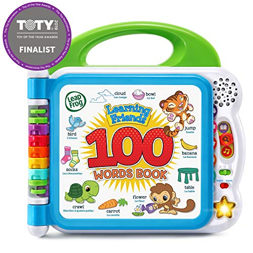 LeapFrog Learning Friends 100 Words Book (Frustration Free Packaging), Green (Best Tablet For 1 Year Old)