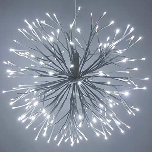 White Twinkling LED Starburst 5mm Cool White Light Balls - Christmas Light Balls - Wedding Decorations for Party - (24