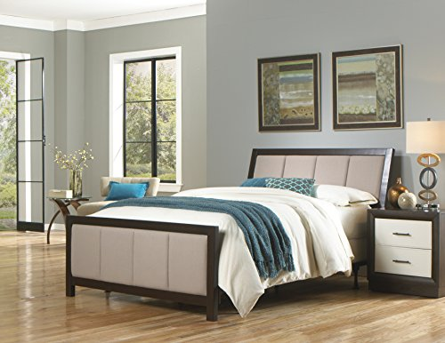 Monterey Headboard with Wood Frame and Mouse Upholstery, Espresso Finish, California King