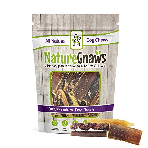 Nature Gnaws Beef Jerky Combo Pack (12 Count) – (3) Sticks, (3) Springs, (3) Bites, (3) Tendon Dog Chews