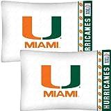 NCAA Maimi Hurricanes Football Set of Two Pillowcases
