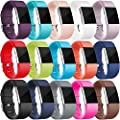 Wepro Bands Replacement For Fitbit Charge 2 Buckle 15 Pack Large