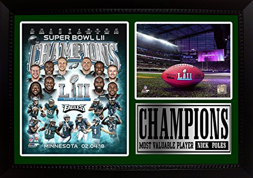 Superbowl World Champions Eagles LII World Chamions 12x18 Framed Photos