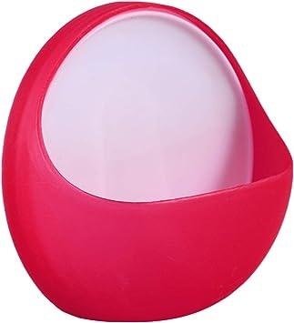 Rosso TOPBATHY Rimovibile Portasapone da Parete con Ventosa in plastica