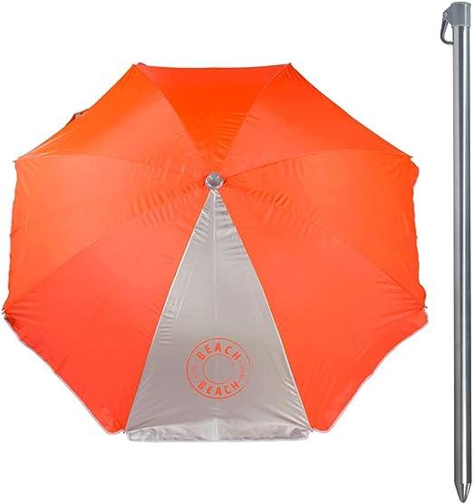 Aktive 62109 Ombrellone 200 cm Protezione UV50 Beach 2 Colori