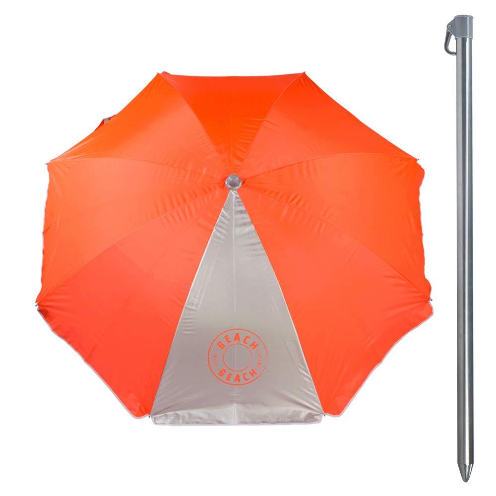 2 verschiedene Farben Aktive 62109 Sonnenschirm 200 cm Schutz UV50 Beach