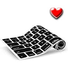 Casiii MacBook Pro Keyboard Cover fit Macbook, Macbook Pro, Macbook Air, Wireless and iMac, 13 15 17 Inch, With / Without Retina, Ultrathin Engineer-Quality Silicone (Black)