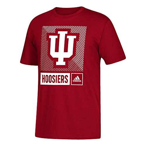 adidas NCAA Indiana Hoosiers Mens Lined Box Go-to S/Teelined Box Go-to S/Tee, Victory Red, ()