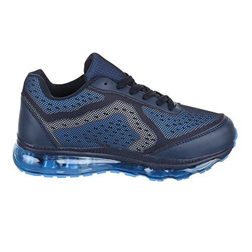Sintético mujer Design de para blu Material Ital Zapatillas Blu wfqYIIA