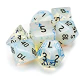 OPALITE Premium Handmade Stone Polyhedral Dice - 7 Dice Set!