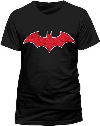 Batman Red Batmobile Logo Camiseta para Hombre: Amazon.es: Ropa y accesorios