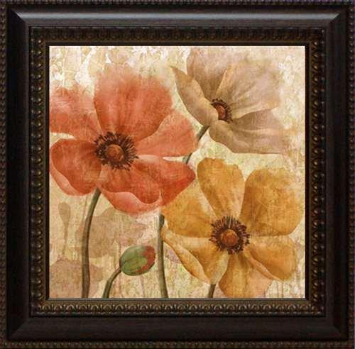 Allure Framed Art - Artistic Reflections Poppy Allure II Framed Art