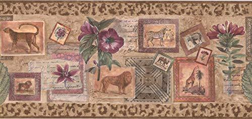 Wallpaper Border - Jungle Animals Wallpaper Border BY106250B (Animals Wallpaper Jungle Border)