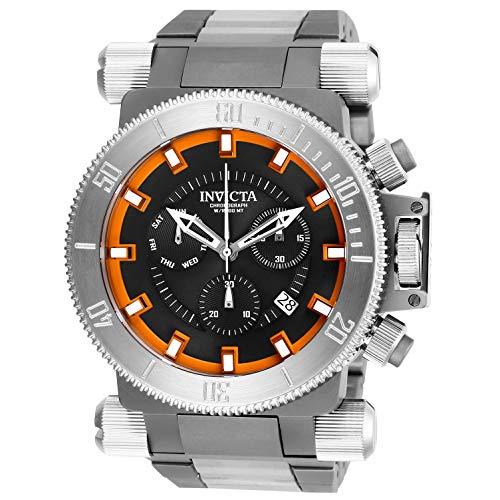 - Invicta Men's 26640 Coalition Forces Quartz Chronograph Black, Orange Dial Watch