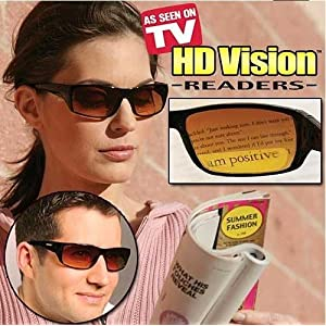 HD Vision Readers- BiFocal Sunglasses, Black 2.0