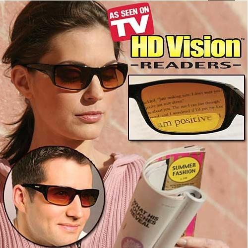 HD Vision Readers- BiFocal Sunglasses, Black - Sunglasses High As Tv On Seen Definition