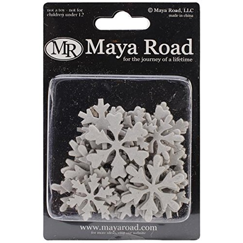 Maya Road 0.8-Inch to 2.2-Inch Chipboard Set, Mini, Snowflakes, ()