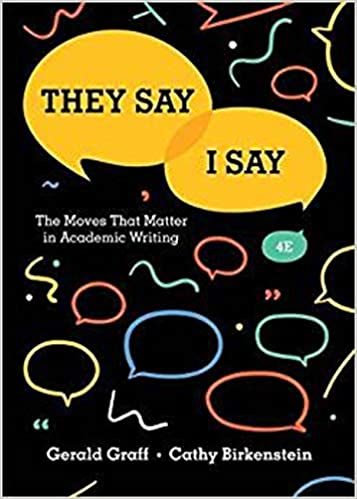 They Say Matter Academic Writing