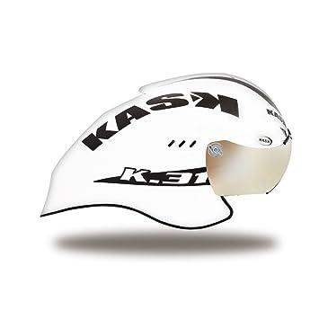 Kask – K31 Crono Road TT Casco aerodinámico Triathlon TT Bolsa de transporte, color blanco