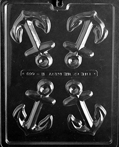 Large Anchor Chocolate Mold - N068 - Includes Melting & Chocolate Molding Instructions