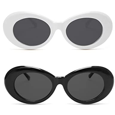 Amazon.com: Clout Goggles 2 Pack, FYJOY Bold Retro Oval Mod Thick ...