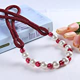 Vankra Pair Of Acrylic Pearl Curtain Tie Backs Curtain Tied Rope Decoration (Red)