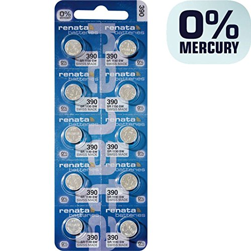 392 Watch Battery - Batteries for Watches SR41W (Pack of 10)