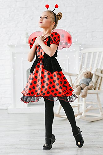Childu0027s masquerade ...  sc 1 st  Funtober & Girlsu0027 Red Ladybug Princess Fairy Love Bug Dress Up u0026 Role Play ...