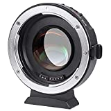 VILTROX EF-M2 Focal Reducer Booster Adapter Auto-focus 0.71x Canon EF mount series lens to M43 camera GH4 GH5 GF6 GF1 GX1 GX7 E-M5 E-M10 E-PL5 , with USB update port