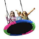 Springcoo Tree Swing, 40'' Diameter Very Large Swing for Multiple Kids Play,Height Adjustable