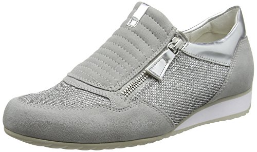 Gabor Women's Comfort Low-Top Sneakers, Grey Silver (a Silver/Grey/Art. 42)