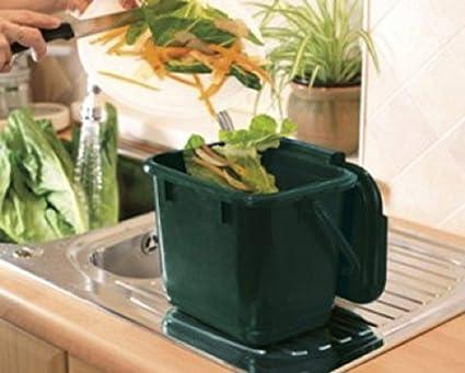 KITCHEN CADDY – Papelera con asa verde para residuos de ...