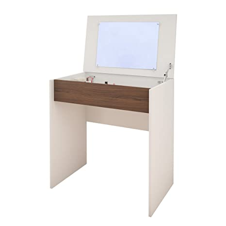 sale retailer e4422 5ea81 Nexera 212703 Vanity/Desk, White/Walnut