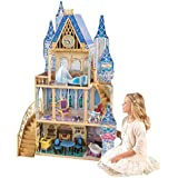KidKraft 65400 Disney® Princess Cinderella Royal Dream Wooden Dolls House with furniture and accessories included, 4 storey play set for 30 cm / 12 inch dolls