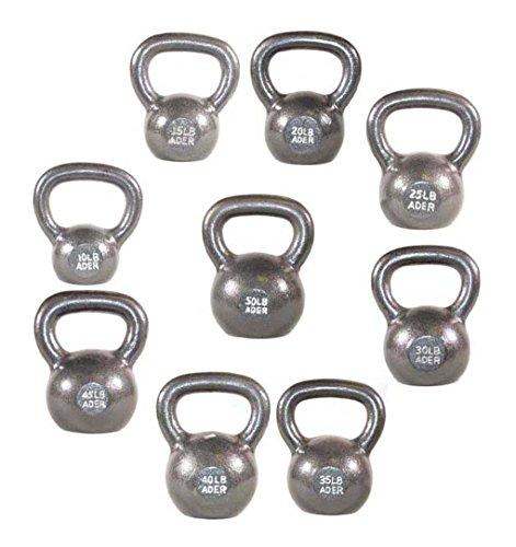 Premier Kettlebell Set w/DVD & Rack- (5, 10, 15, 20, 25, 30, 35, 40, 45, 50lb)