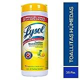 Lysol Toallitas Desinfectantes, Citrus Scent,Amarillo, 1 unidad