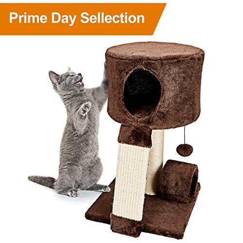 Animals Favorite Cat Condo Perch, Cat Tree with Scratch Post for Small Cats and Kittens (Condo (Post Perch)