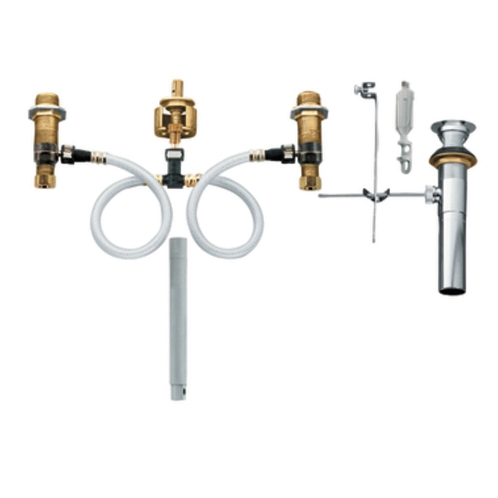 Moen T6125-9000 Kingsley Two-Handle High Arc Bathroom Faucet with ...
