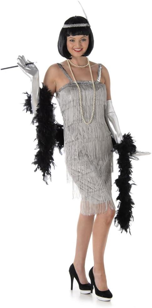Generique Disfraz de Charlestón Plateado Mujer S: Amazon.es ...