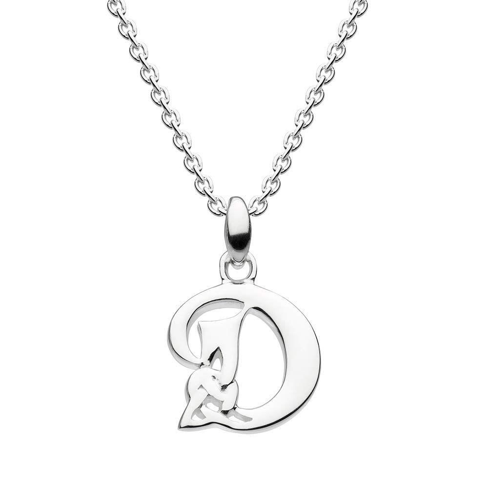 The Silver Heron 18 Celtic Initial Necklace.925 Sterling Silver