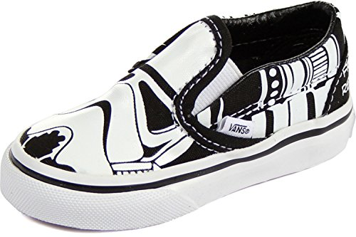 ba5a582893522a Vans Boys  Star Wars Stormtrooper Slip-On (Tod) - Black White ...